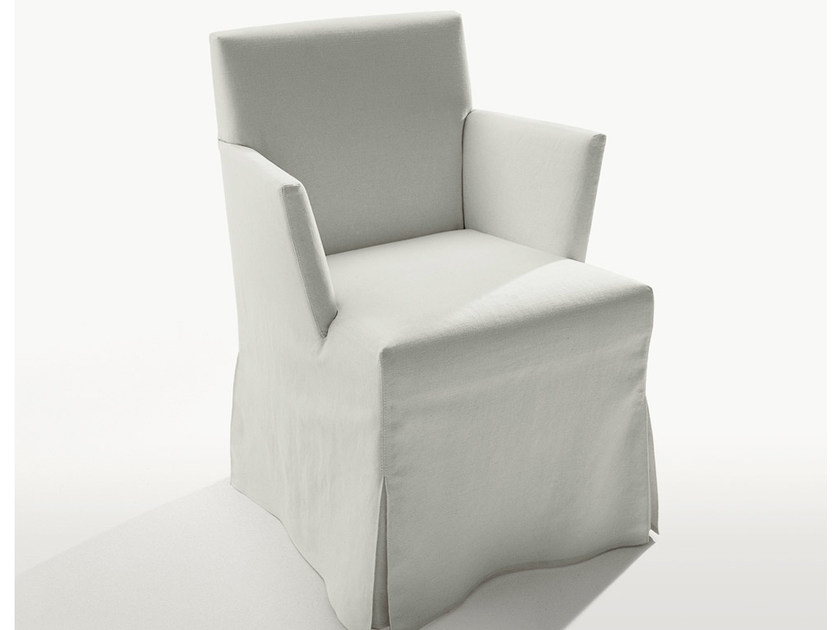 Upholstered fabric chair with armrests PEPLO | Chair with armrests - Maxalto, a brand of B&B Italia Spa