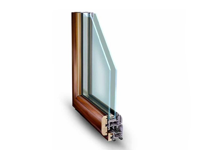 Aluminium and wood window NATHURA 59 - ALsistem