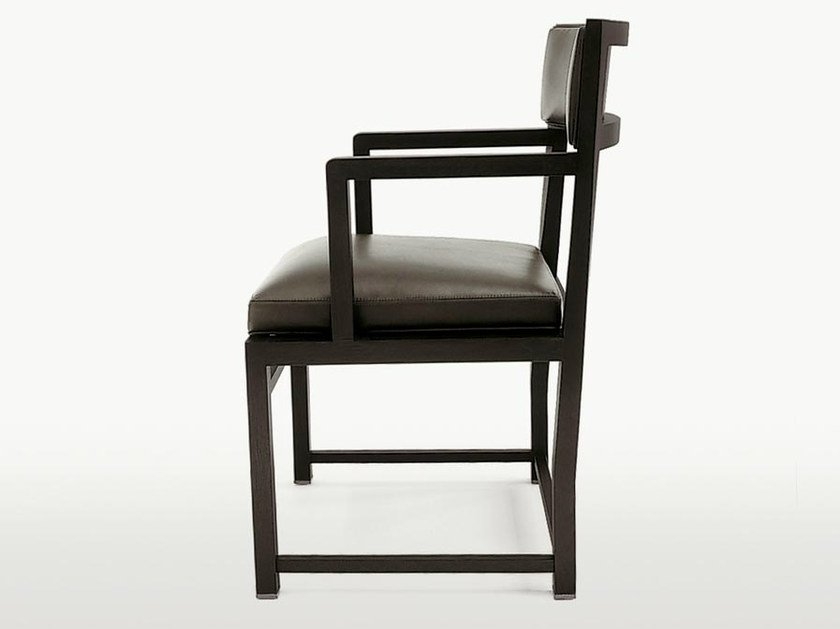 Upholstered solid wood chair with armrests TETI | Chair with armrests - Maxalto, a brand of B&B Italia Spa