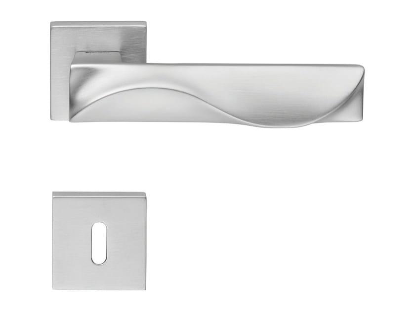 Design brass door handle with lock DUNE   Door handle with lock - LINEA CALI'