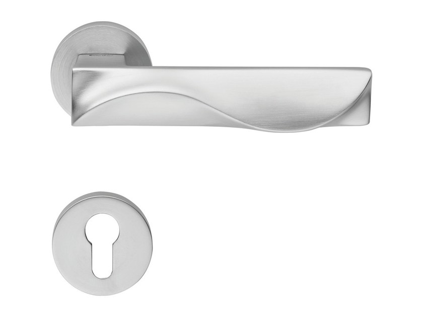 Design brass door handle with lock DUNE | Door handle with lock - LINEA CALI'