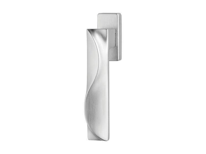 DK chromed brass window handle on rose DUNE | DK window handle by LINEA CALI'