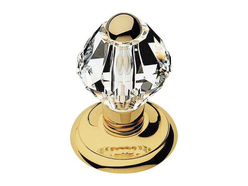 Chromed brass door knob with Swarovski® Crystals CRYSTAL | Door knob by LINEA CALI'