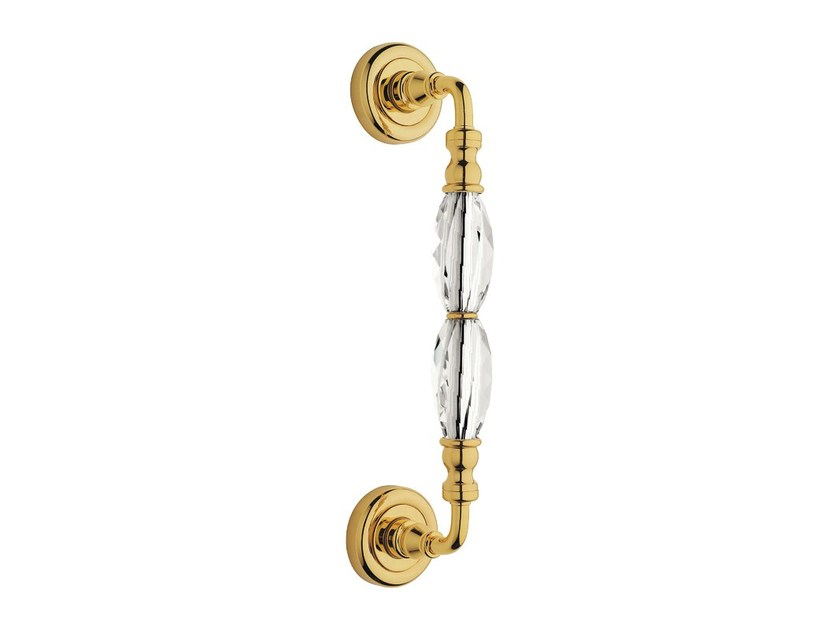 Chromed brass pull handle with Swarovski® Crystals DIAMANTE | Pull handle - LINEA CALI'