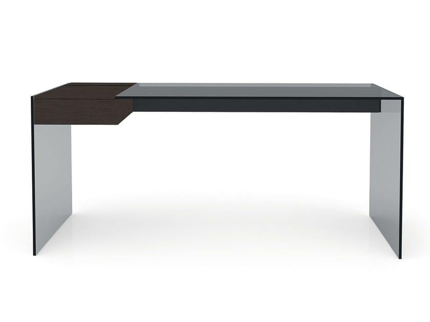 Stainless steel secretary desk AIR DESK W - Gallotti&Radice