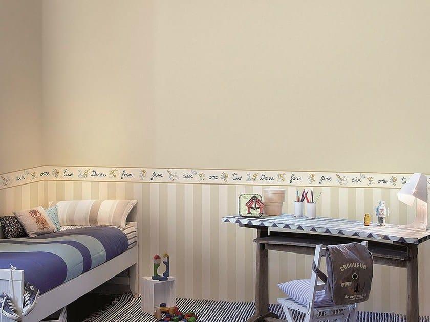 Carta da parati adesiva lavabile per bambini aquarela - Carta da parati per cameretta ...