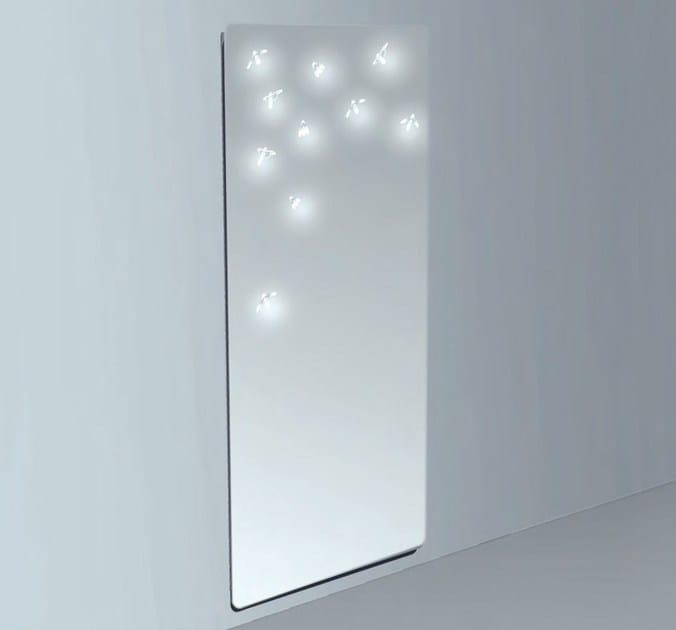 Specchio rettangolare a parete lampiris collezione basic by vb glass - Specchio adesivo ikea ...