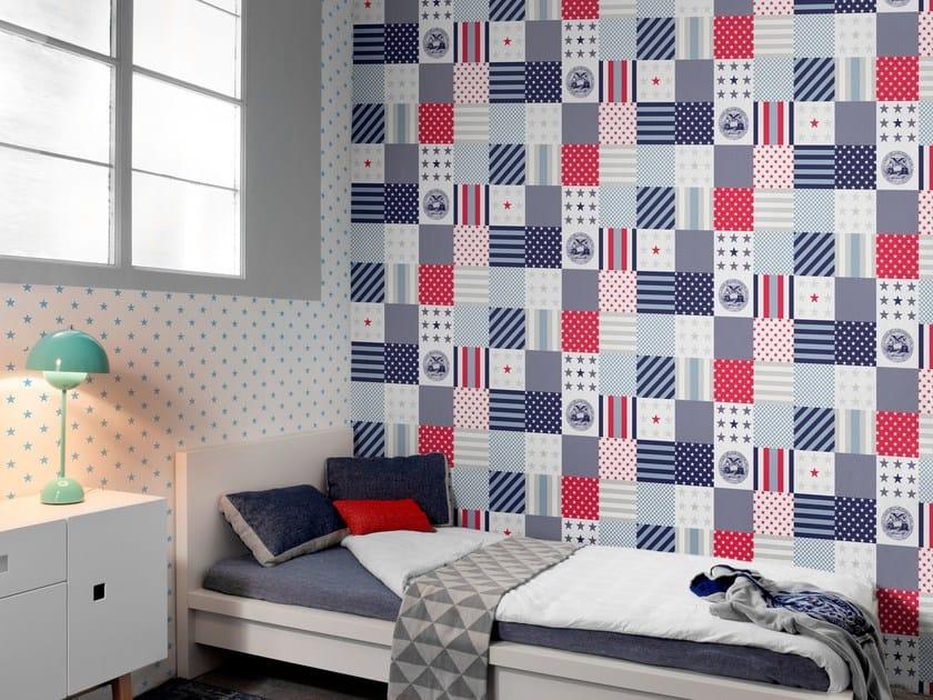 papier peint motifs adh sif lavable papel stars patch by. Black Bedroom Furniture Sets. Home Design Ideas