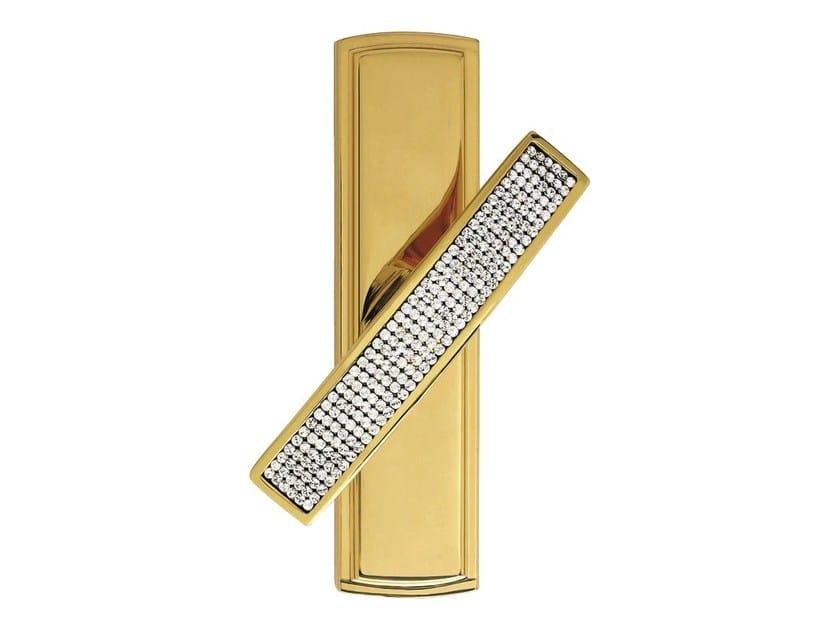 Chromed brass Cremone handle with Swarovski® Crystals PROFILO MESH | Cremone handle - LINEA CALI'
