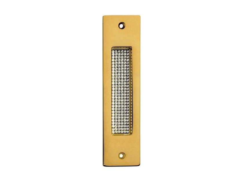 Recessed chromed brass door handle with Swarovski® Crystals PROFILO MESH | Recessed door handle - LINEA CALI'