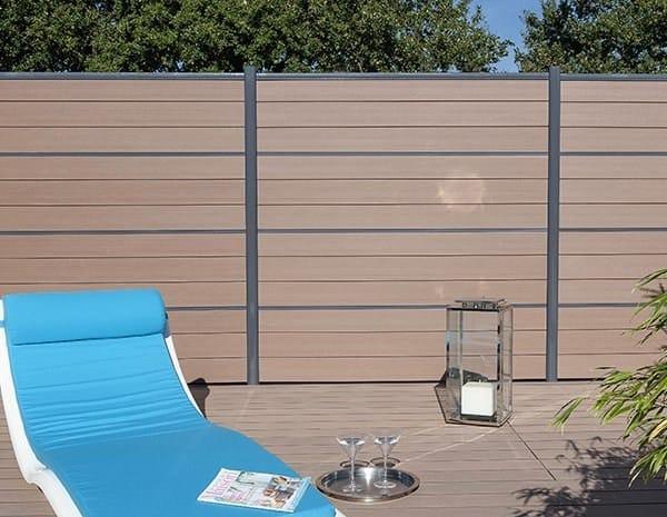 schermo divisorio da giardino in legno composito lama per recinzioni silvadec. Black Bedroom Furniture Sets. Home Design Ideas