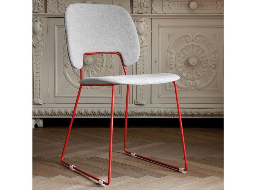 Sled base fabric chair TRAFFIC-T | Fabric chair by DOMITALIA