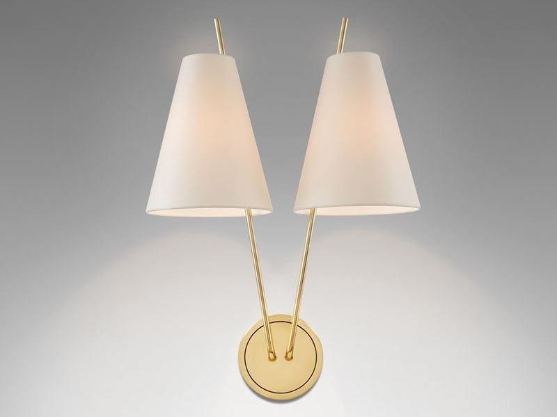 Wall lamp with fixed arm ZWEIG | Brass wall lamp - J.T. Kalmar