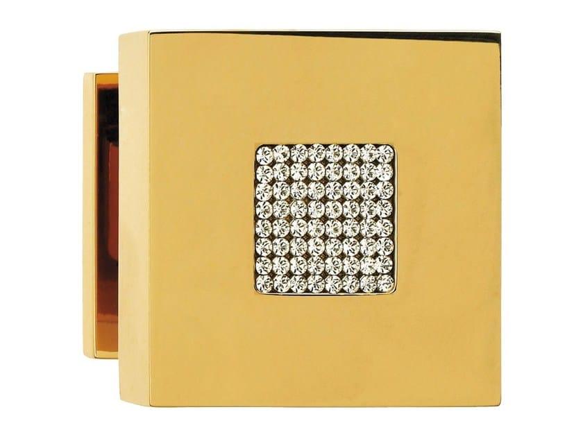 Chromed brass door knob with Swarovski® Crystals ZEN MESH | Door knob - LINEA CALI'