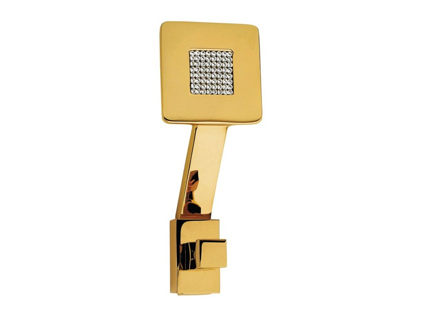 Wall-mounted chromed brass coat rack ZEN MESH   Wall-mounted coat rack by LINEA CALI'