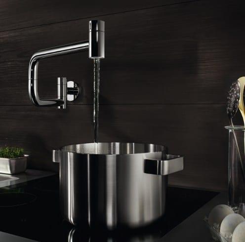 Rubinetto da cucina con doccetta tara ultra dornbracht - Rubinetto a muro cucina ...