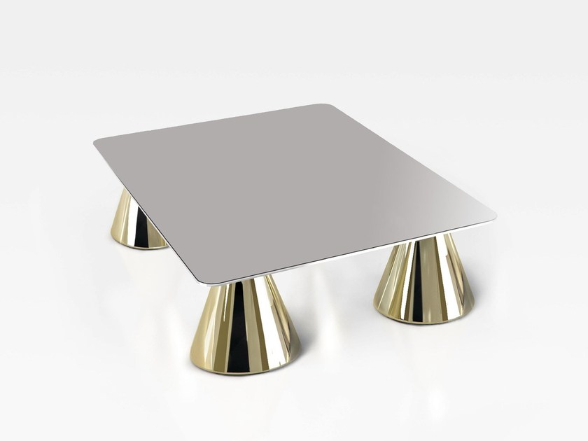 Low rectangular aluminium coffee table ARBAT | Low coffee table - altreforme