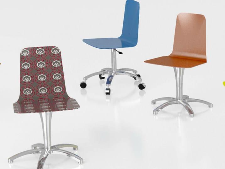 Chair with 5-spoke base LUWAN | Chair with 5-spoke base by altreforme