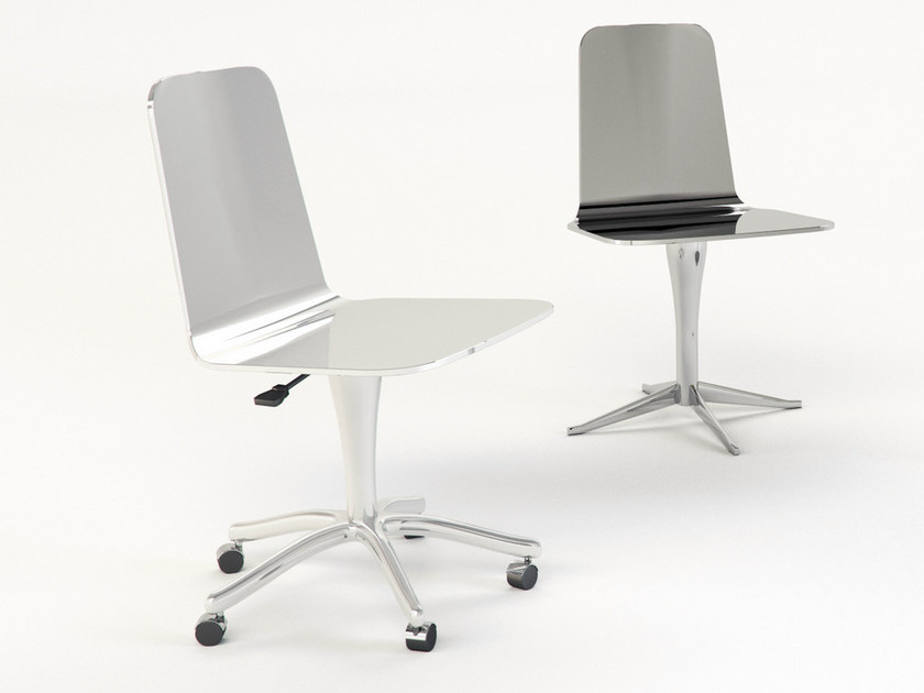 Chair with 5-spoke base with casters LUWAN | Chair with casters - altreforme