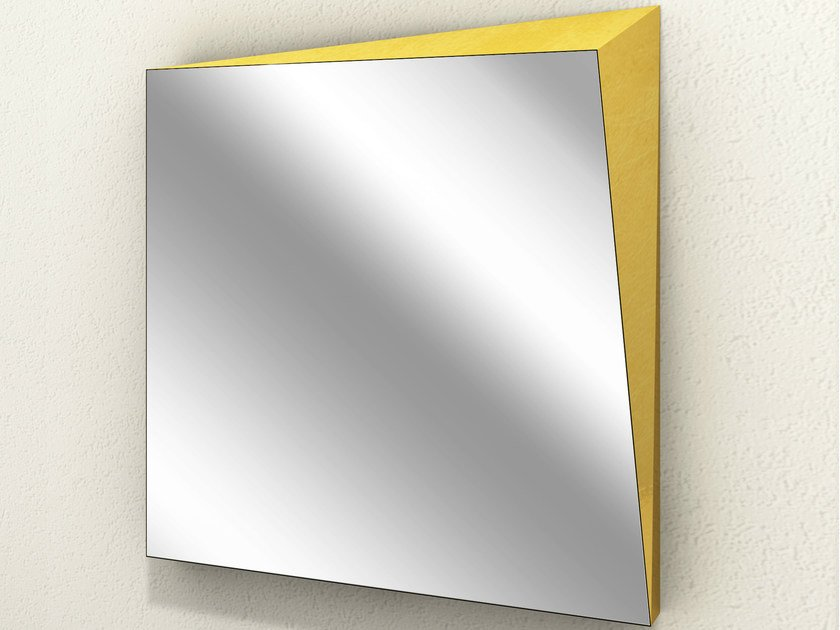 Wall-mounted square mirror LINGOTTO | Square mirror - altreforme