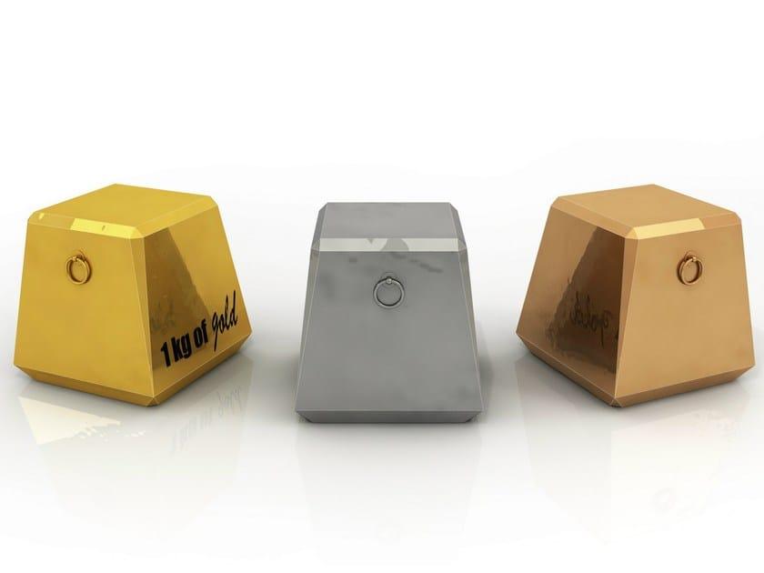 Aluminium pouf LINGOTTINO by altreforme