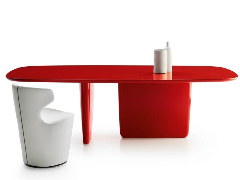 Lacquered rectangular table TOBI-ISHI | Rectangular table - B&B Italia