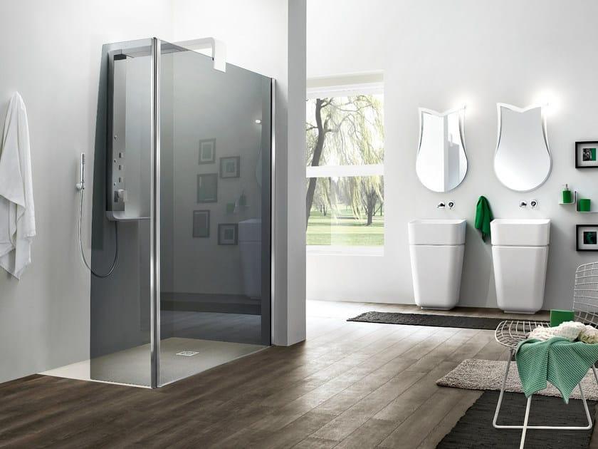 Corner tempered glass shower cabin SEPARET OTTO PLUS - ARBLU