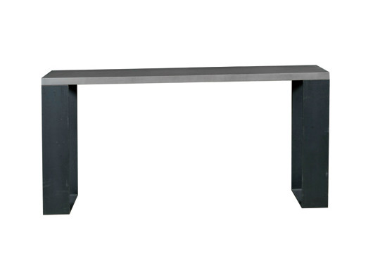 Rectangular oak console table BEMOL | Console table - Ph Collection