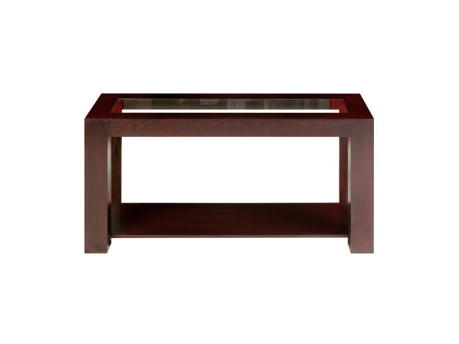 Rectangular wooden console table SQUARE | Console table - Ph Collection