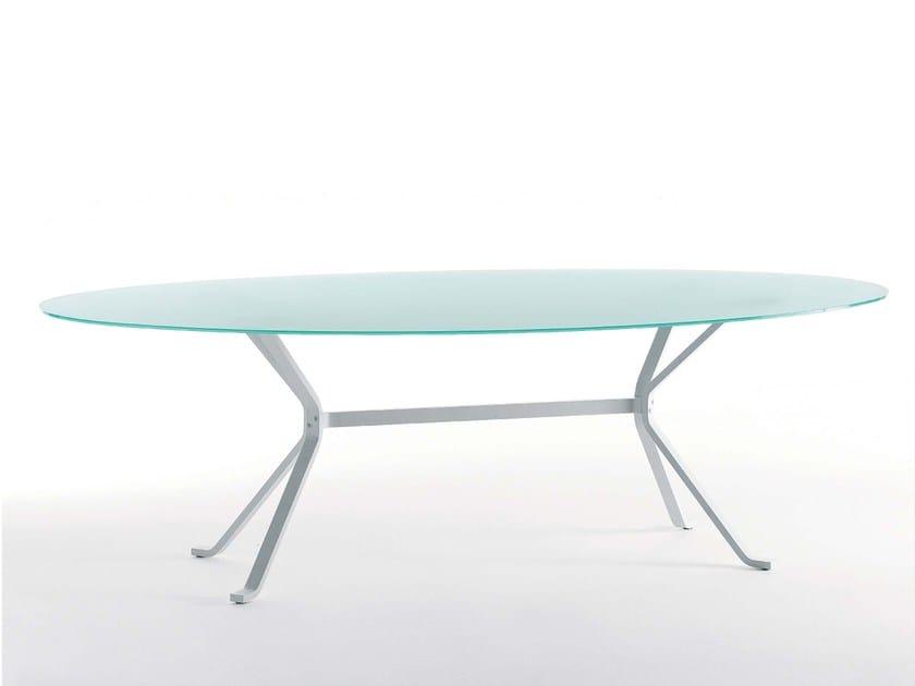 Tavolo ovale in vetro CRAB TO - Fasem