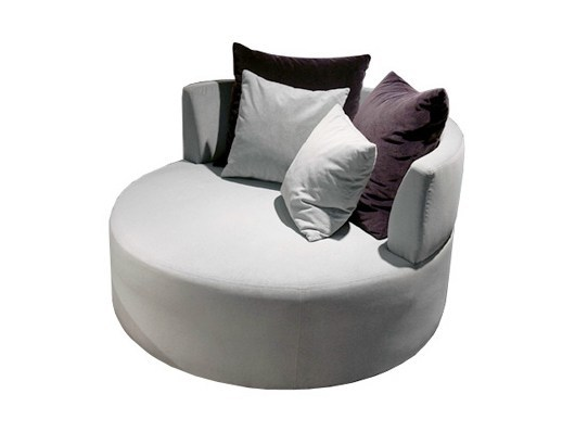 Upholstered leather armchair BAMBOO | Armchair by Ph Collection