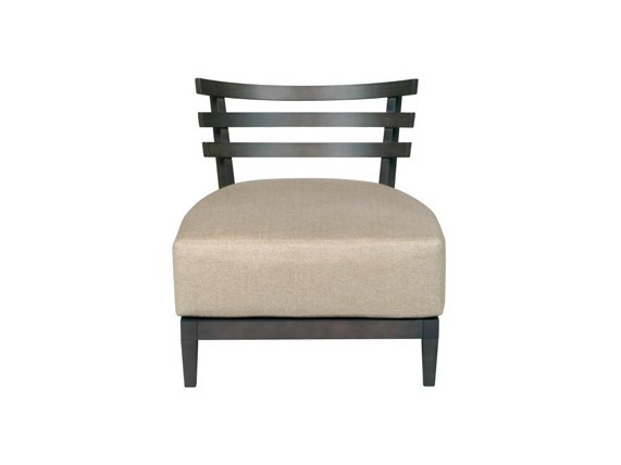 Upholstered leather easy chair DIABOLO | Easy chair - Ph Collection