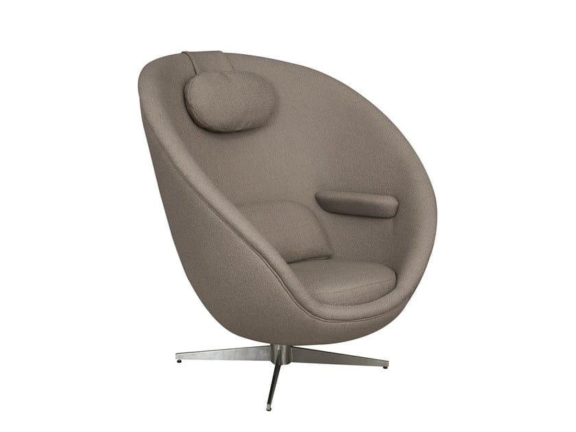 Fabric armchair with 4-spoke base AGATHON - Hamilton Conte Paris