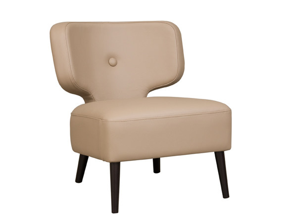 Leather easy chair THAÏS | Leather easy chair - Hamilton Conte Paris