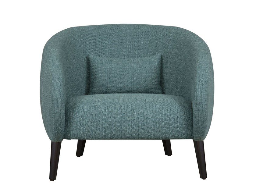 Fabric easy chair with armrests OLEG by Hamilton Conte Paris