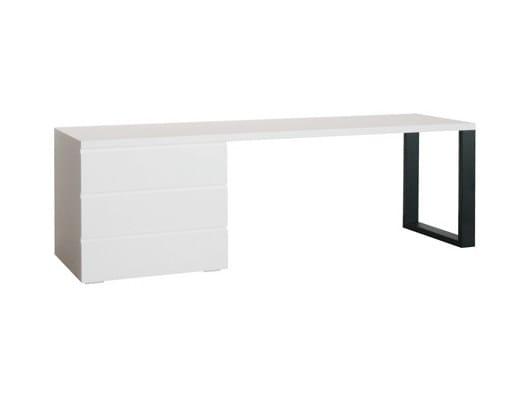 Wood veneer writing desk with drawers MAO | Writing desk - Ph Collection