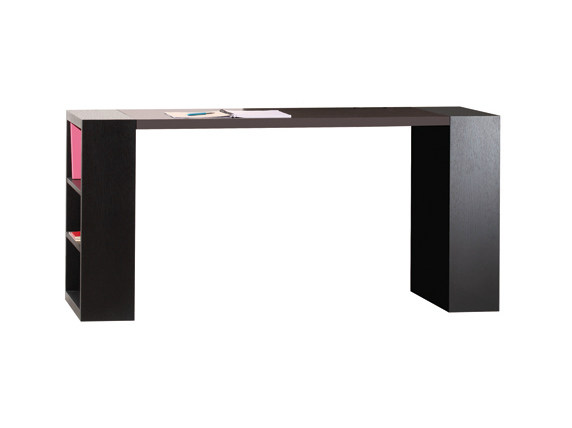Wood veneer writing desk with bookcase NAPPA | Writing desk by Ph Collection