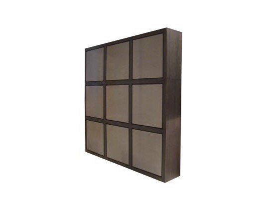 Modular wood veneer highboard with doors QUADRA | Modular highboard - Ph Collection