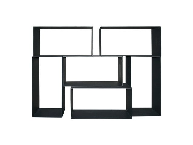 Modular steel shelving unit METANGLE | Bookcase - Ph Collection