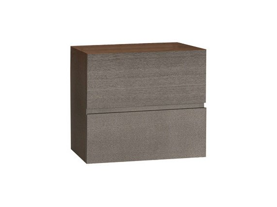 Square bedside table with drawers LAGO | Bedside table - Ph Collection