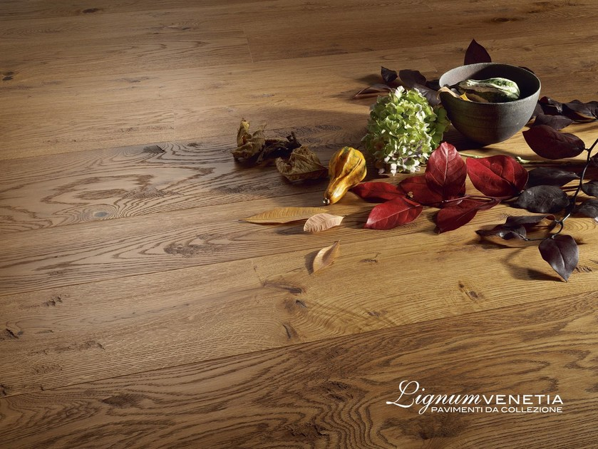 Brushed oak parquet CASTELLO by Lignum Venetia