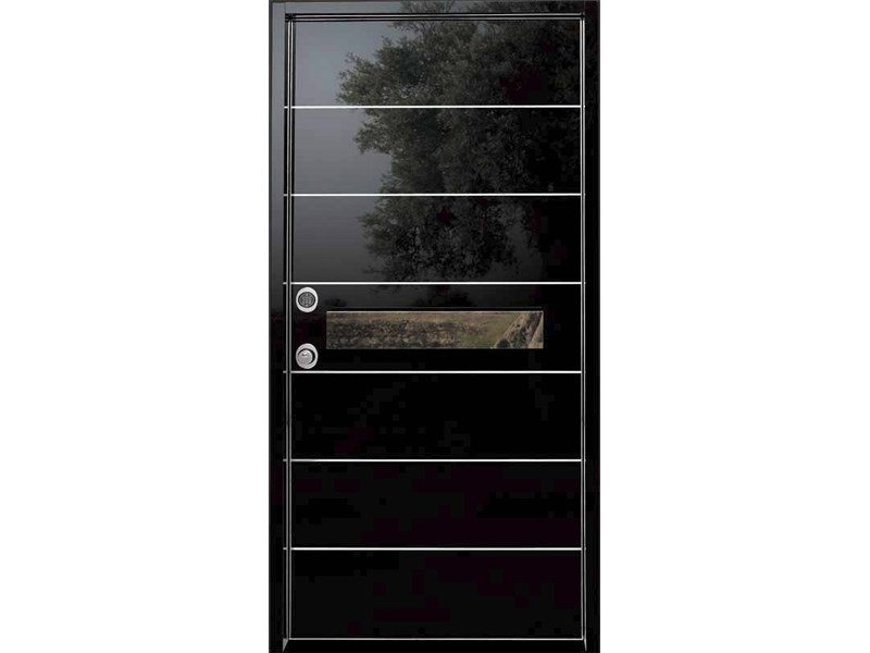 Safety door with concealed hinges with electronic lock SUPER HT - SL di SABATINO LIBERATO e C.