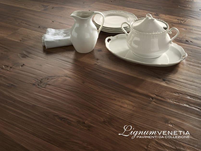 Brushed walnut parquet PALAZZO DUCALE - Lignum Venetia