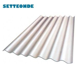 Lastra ondulata in pva cemento per coperture setteonde for Onduline plastica