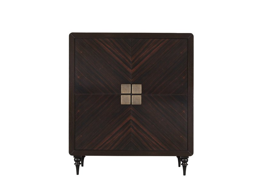 Wood veneer highboard with doors ORICK 4 DOOR CABINET - Hamilton Conte Paris