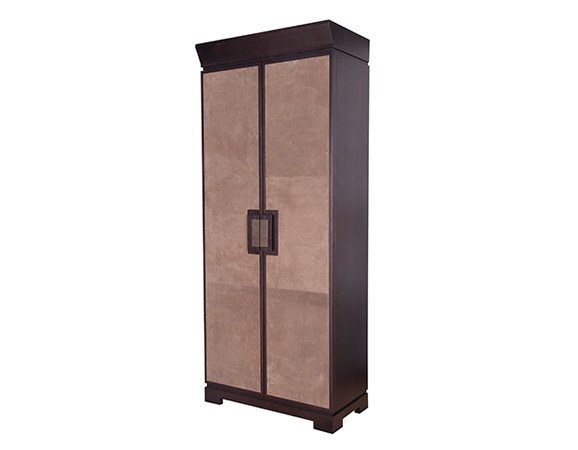 Suede highboard with doors FULLERTON 2 DOOR ARMOIRE | Suede highboard - Hamilton Conte Paris