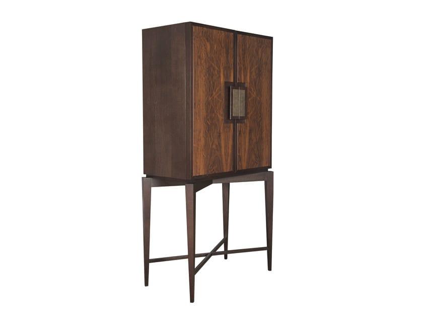 Wood veneer highboard with doors FULLERTON 2 DOOR HIGH CABINET | Wood veneer highboard - Hamilton Conte Paris