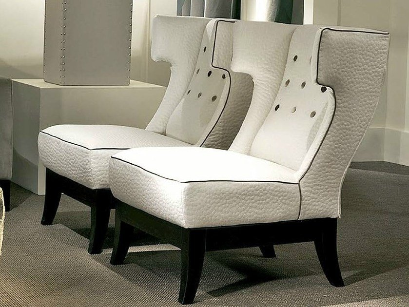 Upholstered fabric armchair ISOTTA - SOFTHOUSE