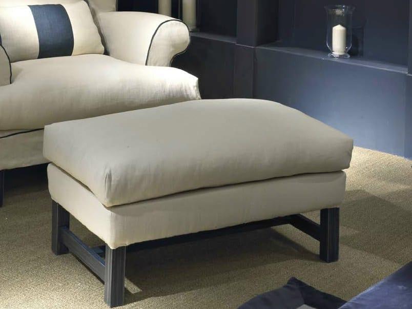 Upholstered fabric pouf OTTONE | Pouf - SOFTHOUSE