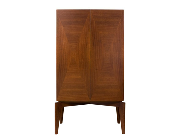 Wood veneer highboard with doors ARHUS CABINET - Hamilton Conte Paris